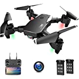 Drone con Telecamera, Droni per Principianti, 1080P HD Pieghevole Drone con WiFi FPV, 30 Minuti di Volo (2 Akku…