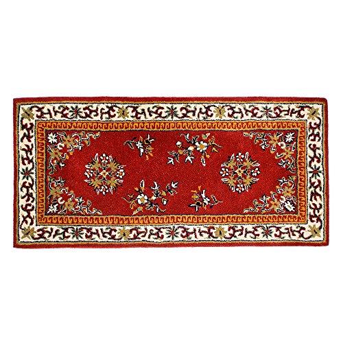Traditionelle Orientalische Teppich (Minuteman International Teppich, orientalische Wolle, Blau 56-in x 26-in burgunderfarben)