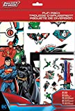 Sandylion St6920 DC Comics Justice League avec stickers, DE jouer, Lot, autocollants, affiches, stylos