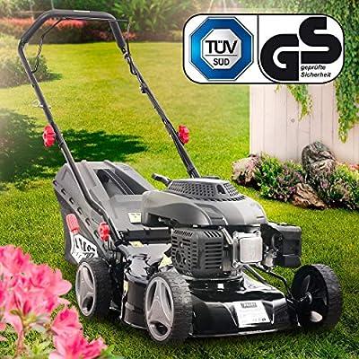 BRAST Benzin Rasenmäher 2,5kW(3,3PS) 41cm Schnittbreite Stahlgehäuse 45L Grasfangkorb TÜV geprüft Easy Clean 4-Takt Motor