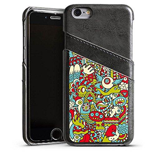 Apple iPhone 4 Housse Étui Silicone Coque Protection Monstre Motif Motif Étui en cuir gris