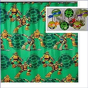 Teenage Ninja Turtles Rideau de douche–72x 72avec crochets de douche Tortues Ninja