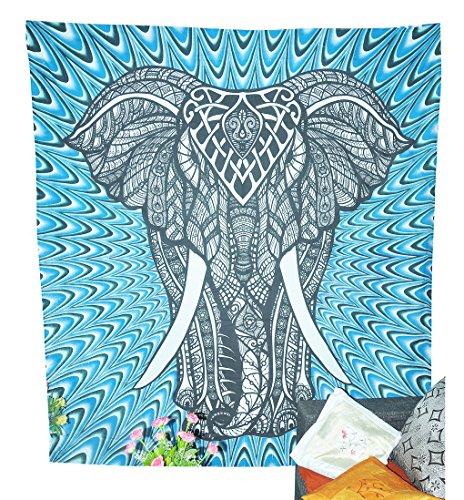 Elefant Wandteppiche Psychedelic Wandteppichen Tapisserie Hippie Elefant Wand Bohemian Wandteppiche indischen Wandteppich für Decor College Wohnheim von fashion-us (Teal Decor Tabelle)