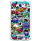Funda Gel Flexible Alcatel One Touch Pop C7 BeCool Grafiti de Colores Divertido Carcasa Case Silicona TPU Suave