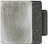 Schuladenknopf eckig Möbelgriff Möbelknopf schwarz hell Eisen Türknopf quadratisch - H8040 | Vollmaterial MASSIV | Schrank-Knopf rustikal 30 x 30 mm | Höhe 21,5 mm | Möbelbeschläge von GedoTec®