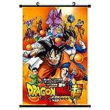 Bellenne Dragon Ball Rollbild / Kakemono aus Stoff, Dragonball Z Poster Wanddekoration Wandaufkleber Wandtattoo Wandbilder (H02, 70 x 45 cm)