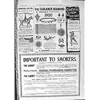 CAMPIONE 1901 DELLE SIGARETTE DI OGDEN DEL WHISKEY DI FAULKNER DIAMON CARTER DELLA PUBBLICITÀ