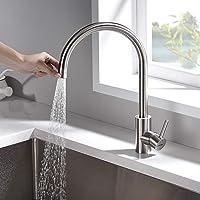 GRIFEMA G4008-1 Kitchen Tap with Hand Shower, Sink Mixer, Stainless, Grey