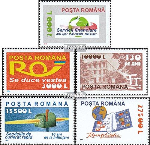 Postdienste (Rumänien 5672-5676 (kompl.Ausg.) 2002 Freimarken: Postdienste (Briefmarken für Sammler))