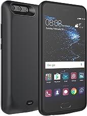 ChainPlus Huawei P10 Akku Hülle, Huawei P10 Akkuladegerät Case 5500mAh Externe Backup-Ladegerät Energienbank Schutzhülle (Schwarz)