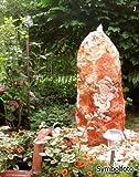 Gartenbrunnen Sandstein-Quellstein-Set 90 cm