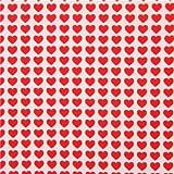 Tela blanco roto con pequeños corazones rojos corazón rojo de Lecien