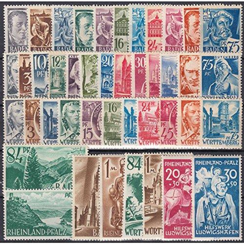 Goldhahn Set: Französische Zone postfrisch ** Briefmarken für Sammler