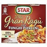 Star - Granragù con Funghi Porcini - 4 confezioni da 2 vasetti da 180 g [8 vasetti, 16 porzioni]