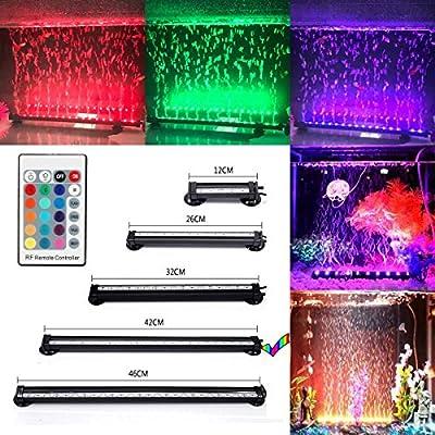 GreenSun LED Lighting RGB étanche IP68 Luminaires D'éclairage Aquarium Lampe Tube Fish Tank Lamp Lumière Lampes Submersible + 24 Boutons De Contrôle à Distance