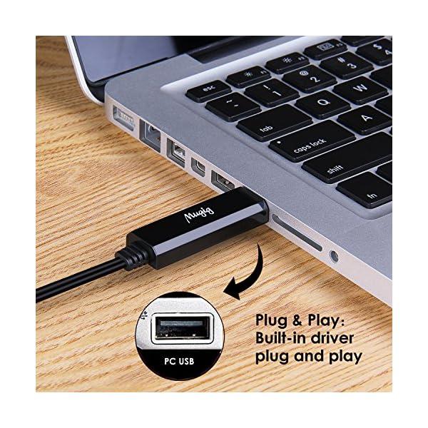 Mugig Cavo MIDI a USB chip FTP, Connettore PC e MAC con Strumenti MIDI, per Tastiera Pianoforte senza bisogno di driver