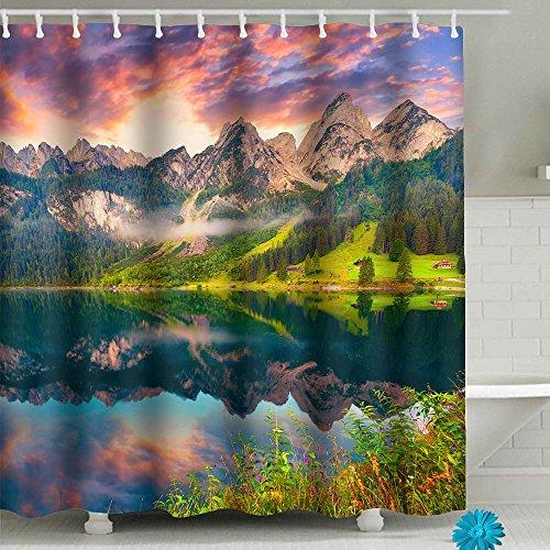 FAITOVE Custom Badezimmer Dusche Vorhang-Sets mit Polyester-Haken-Wasserdicht Decor 149,9cm (W) X 180,3cm (H) 71x71 Pattern1