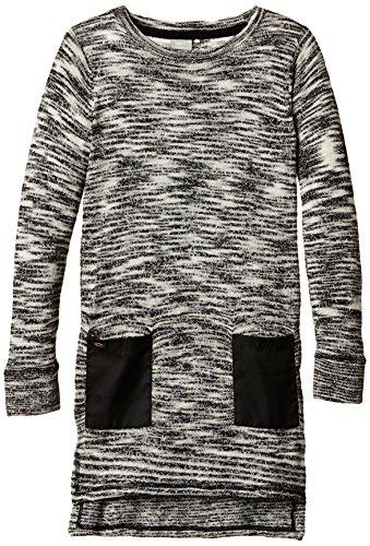 NAME IT Mädchen Pullover Nitlaka K Ls Knit Tunic 515, Gr. 122 (Herstellergröße: 122-128), Mehrfarbig (Black)