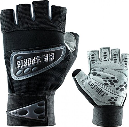 Gants d'entraînement de remise en forme, des gants Super Grip + bandage noir
