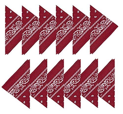 Boolavard 100% cotone 1pcs 6pcs o 12pcs Pack Bandane con Paisley Pattern colore originale di scelta Headwear/capelli