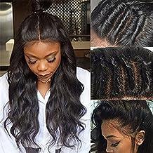 7A100% sin pegamento Remy brasileño cuerpo Wave 360encaje frontal Pelucas Pelo Humano sin procesar 360encaje natural pelucas cabello pre-plucked con bebé de líneas finas