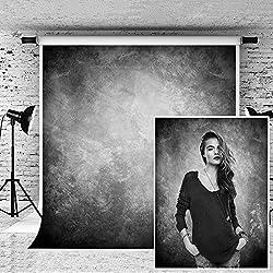 KateHome PHOTOSTUDIOS 1,5×2,2m Photographie Toile de Fond Microfibre Résumé Fond Gris Clair pour photographier Photo Studio Backdrop