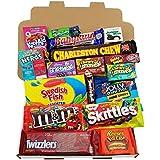 Heavenly Sweets - Coffret Cadeau Moyen Américain Bonbons/Chocolat/Wonka/Nerds Cadeau Noël/ Anniversaire - Boîte Carton Blanc