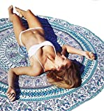 Tongshi 148cm Strand Cover Up Bikini Sommer Boho Kleid Bademode Badeanzug Kimono Tunika (blau)