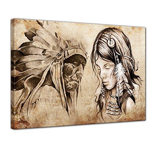 Apache Kopfschmuck (Bilderdepot24 Leinwandbild
