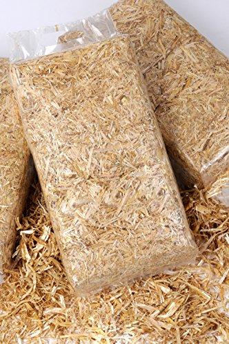 6 kg Stroh Einstreu fürs Nagerheim in handlichen 1kg Beuteln