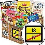 Ortsschild 18 + 18 Geburtstag Männer Geschenke + Schokolade DDR Süßigkeiten-Box