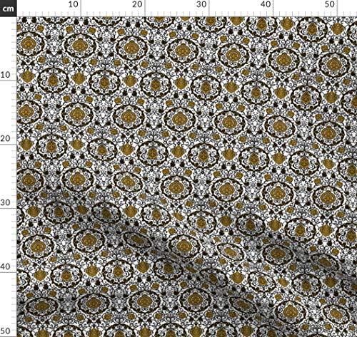 Renaissance Kostüm Stoffe - Kostüm, Italienisch, Renaissance, Tudor, Porträt Stoffe - Individuell Bedruckt von Spoonflower - Design von Bonnie Phantasm Gedruckt auf Seidenimitat Crêpe de Chine