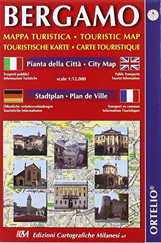 Bergamo. Carta turistica. Ediz. multilingue