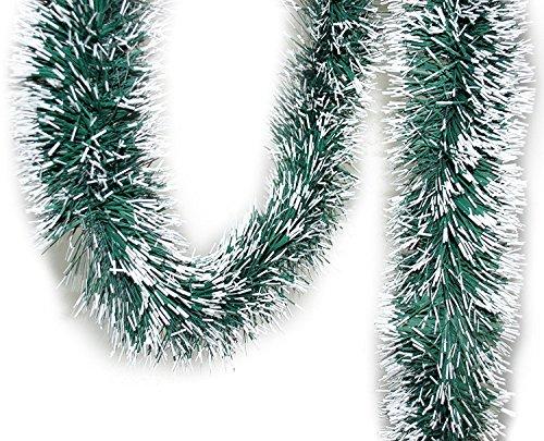 Handel24NET Tannengirlande grün/weiß ca. 2 m Dekogirlande