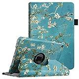 Fintie Hülle für iPad Mini 4-360 Grad Rotierend Stand Cover Case Schutzhülle Tasche Etui mit Auto Schlaf/Wach Funktion für Apple iPad Mini 4 Retina, Mandelblüten