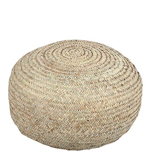 albena Marokko Galerie 30-117 Palma marokkanisches Bodenkissen / Pouf aus Palmblättern ø 55cm / H 30cm natur