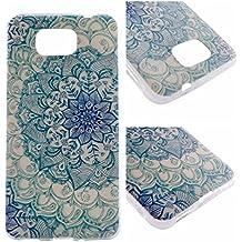 Qiaogle Teléfono Caso - Funda de TPU silicona Carcasa Case Cover para Samsung Galaxy Alpha G850 / SM-G850F (4.7 Pulgadas) - XX09 / Azul mandala