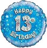 Blau Alter 13 Runde Folienballon (nicht aufgeblasenen)