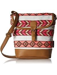 Kanvas Katha Women's Sling Bag (Multi color) (KKRJQ013)