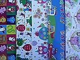 10fogli di carta da regalo per bambini, motivi: principessa, carro attrezzi, auto, leone, elefante, giraffa, gufetti Ciascuna delle 5 fantasie include 2 fogli.