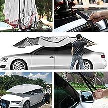 Tenda automatica per tenda da auto di Gugutogo - Copertura auto Copertura esterna impermeabile per auto da tetto pieghevole per auto Tenda anti-UV per tetto auto - Tenda per qualsiasi auto entro 5 metri - Adatto per parcheggio, viaggi di campeggio, viaggi di lavoro e schiacciando un pisolino - Bianco