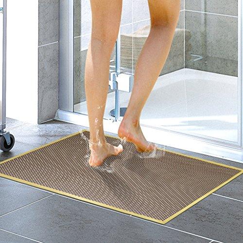 LYJ Tapis de bain Salle De Bains Tapis De Sol Antidérapant En PVC / Salle De Douche Tapis De Bain ( Multicolores Facultatif) Séchage rapide ( Couleur : Marron , taille : 43*73cm )
