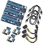 Midore PCI-E Extender 1x zu 16x Enhanced Extender Powered Riser Adapter Karte mit USB 3.0Verlängerungskabel für Bergbau 3 Pcs