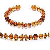 ZHAOXIA Ambre Bracelet/Cheville - 100% Plus Haute Qualite Certifie l'Ambre la Baltique Authentique Bracelet