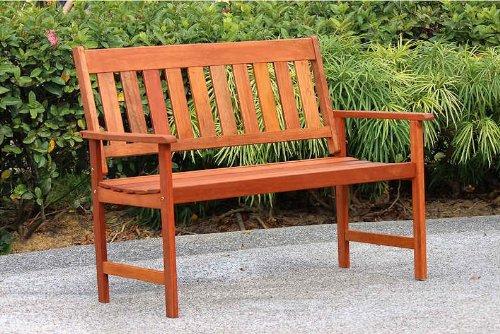 supersalestore Madera Jakarta Bench mit Eleganten Sitz aus Hochwertigem Holz