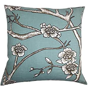 The Pillow Collection Tadita Floral Bedding Sham Blue King//20 x 36
