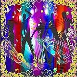 Hintergrundbild Wandsticker Wandtattoo Wanddekorationbenutzerdefinierte Wandbild Custom Hd Coole Tanzende Mode Bunte Note Ktv Bar Hintergrund Wand Nachtclub Tapete Wandbild, 430 * 300Cm