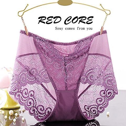 RangYR* biancheria intima sexy donna tentazione pizzo cintura di fluoroscopia intimo di garza femmina non-marking 3 Ms. Kok underwear , sono i soliti zongzi 2 codice ,7434) Colore