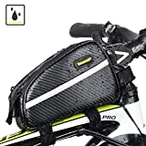 Bike Top Tube Bag Water Resistence Frame Bag Double Zipper Design for Bicycle Accessories