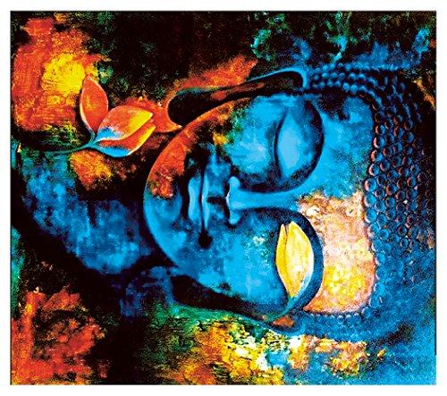 Heilige Buddha Yoga Meditation Wandteppich Indische Buddhismus Wandkunst Tapisserie Zen Stil Bunte Böhmische Wand Dekor Strand Decke Tagesdecke Wohnheim Dekor für Wohnzimmer Schlafzimmer 51 * 59in
